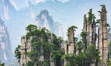 Zhangjiajie con la foresta di Avatar e Cina Classica