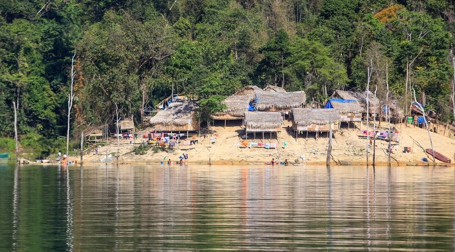 Un villaggio degli aborigeni Orang Asli