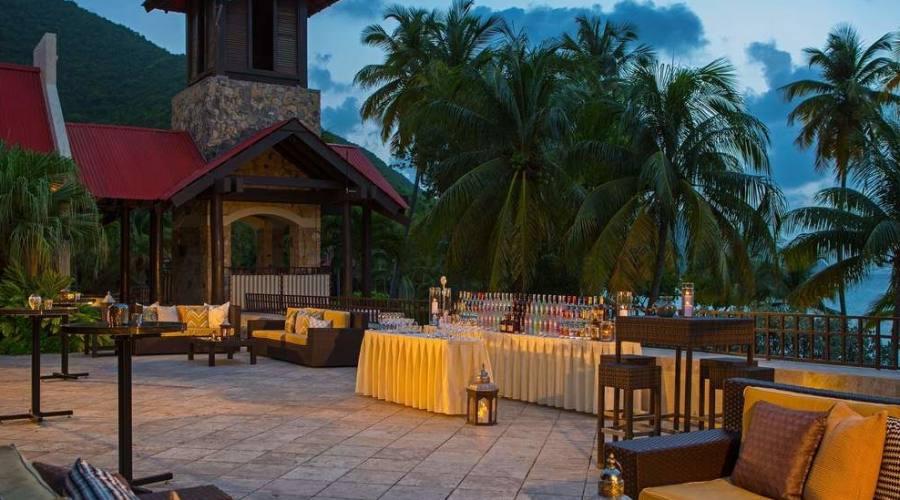 La terrazza del ristorante Saman