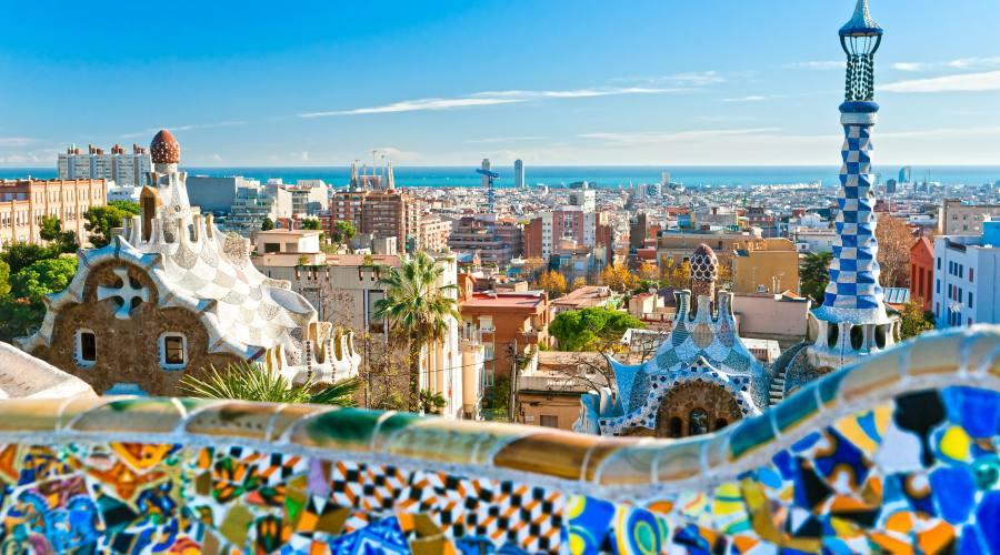 Il parco di Gaudi a Barcellona