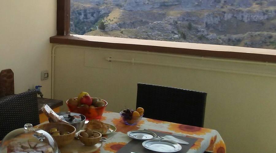 Terrazzo panoramico per le colazioni