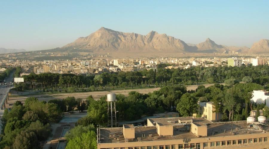 vista del deserto a Kerman
