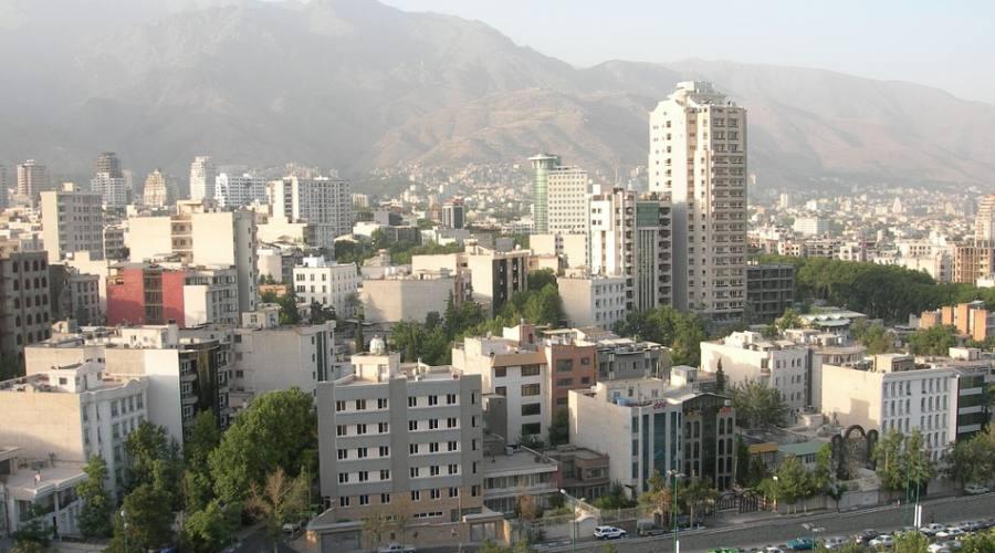 vista della città di Teheran