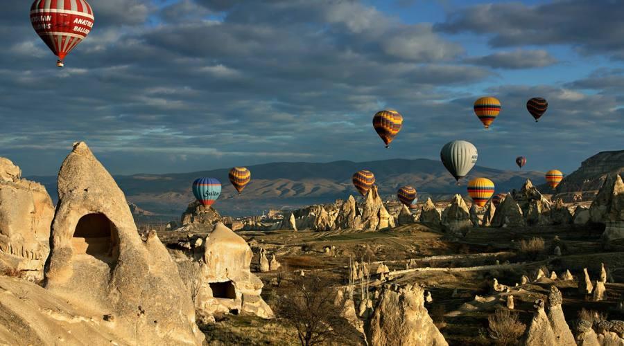 Vista panoramica Cappadocia