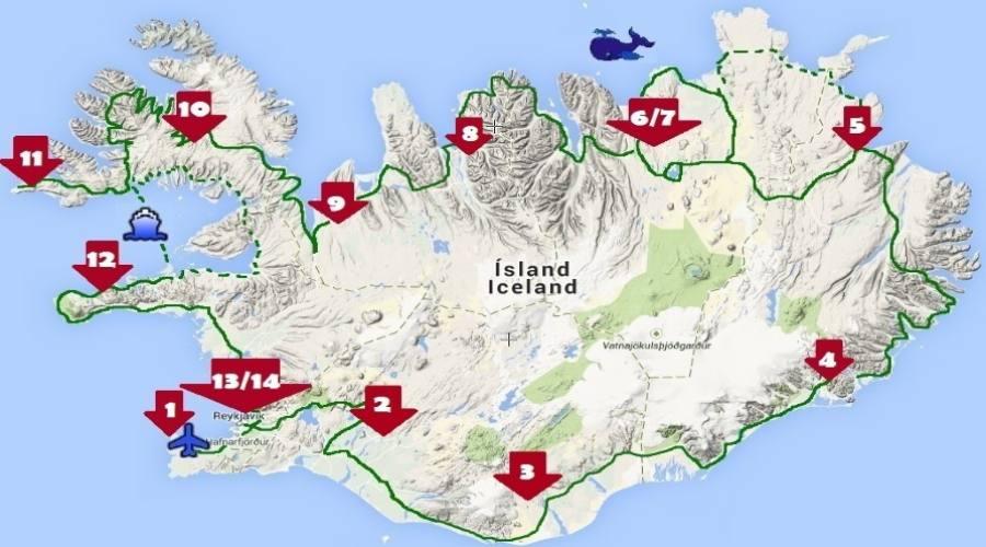Itinerario Islanda 14 notti