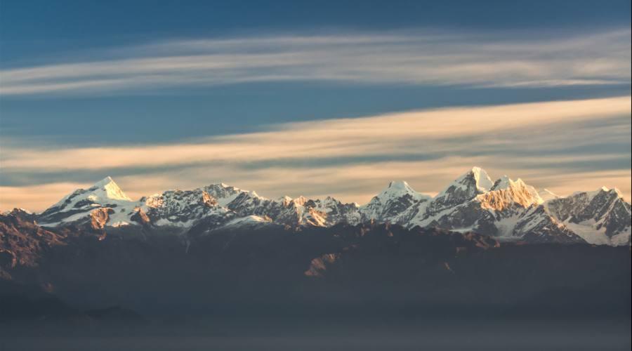 Panorama sulle cime Nepalesi