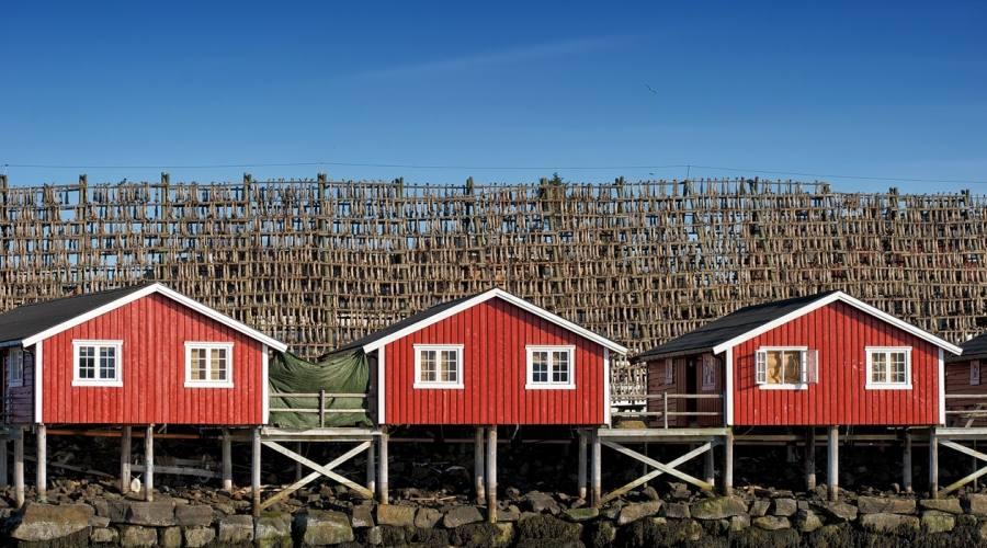 Tipiche case Isole Lofoten