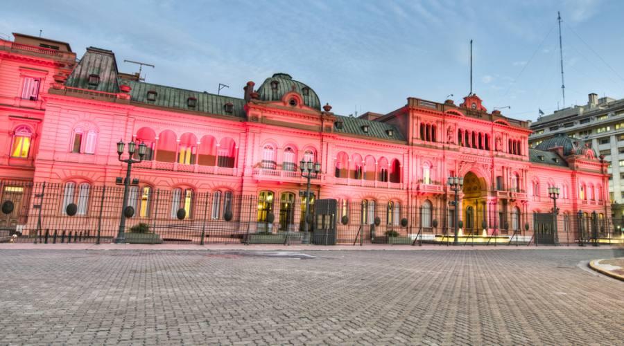 Buenos Aires - La Casa Rosada Ufficio del Presidente dell'Argentina