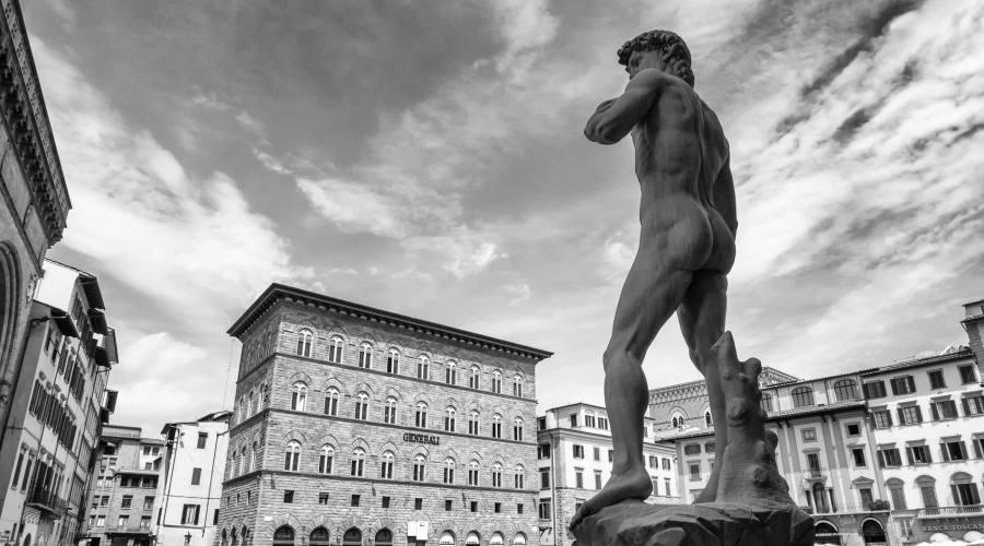 Piazza della Signoria, David di Michelangelo