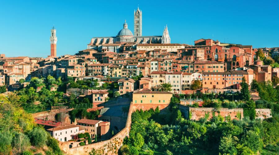 Siena, panoramica sulla città medioevale