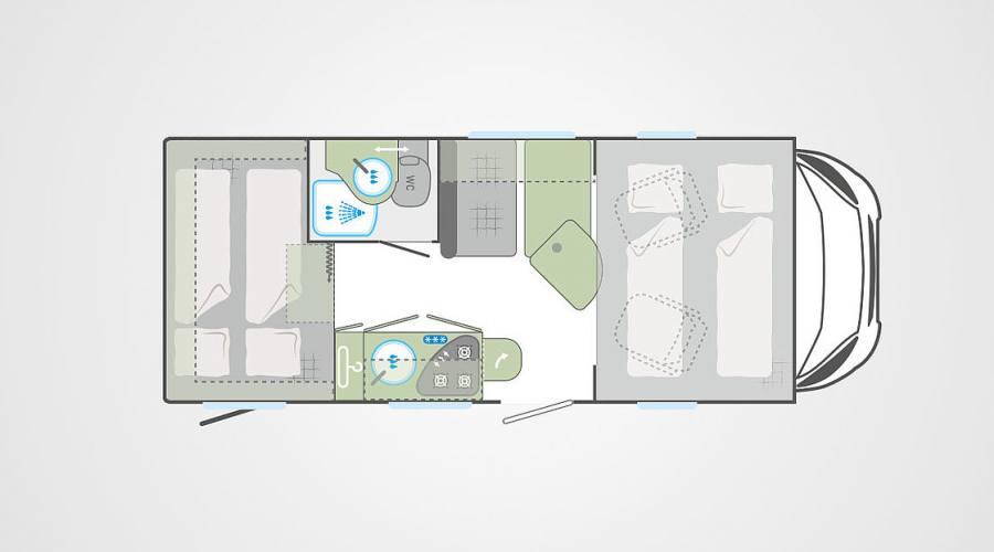 Possibile layout Camper giorno e notte