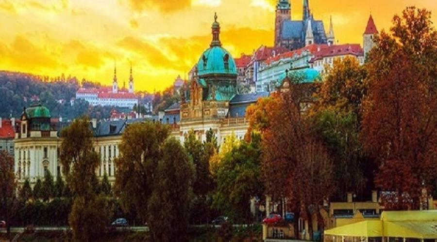 Panorama del castello di Praga