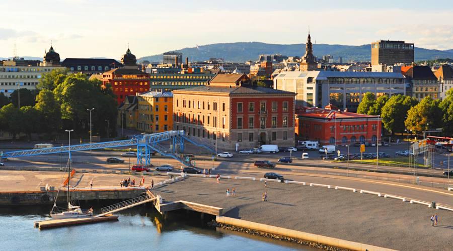 Vista di Oslo dal teatro dell'Opera, Norvegia, Norway in a Nutshell