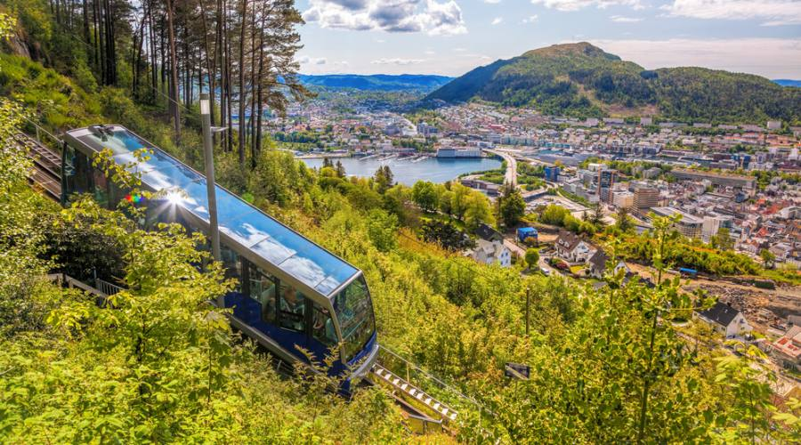 La funivia di Bergen, Norvegia, Norway in a Nutshell