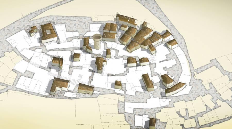 Pianta borgo Santo Stefano di Sessanio