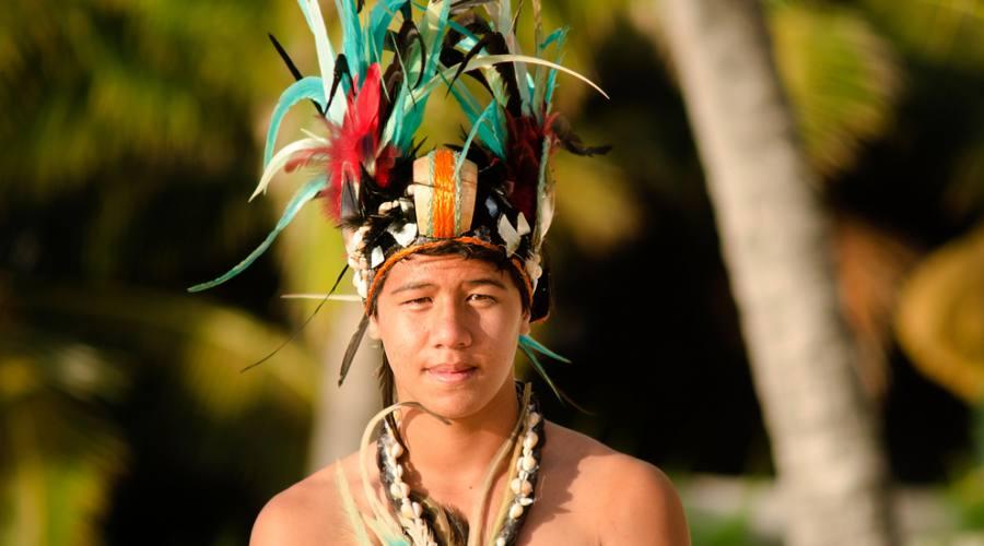 Un tipico danzatore Polinesiano