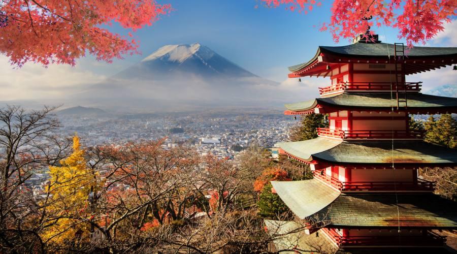 Monte Fuji in Autunno