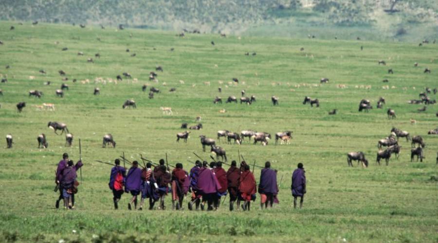 Los Masai en la Reserva de Ngorongoro