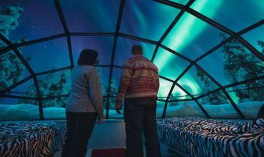 Igloo di Vetro e caccia all'Aurora Boreale (4 giorni)