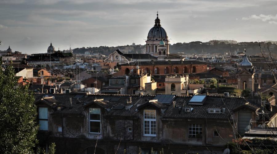 Tetti di Roma da Villa Borghese