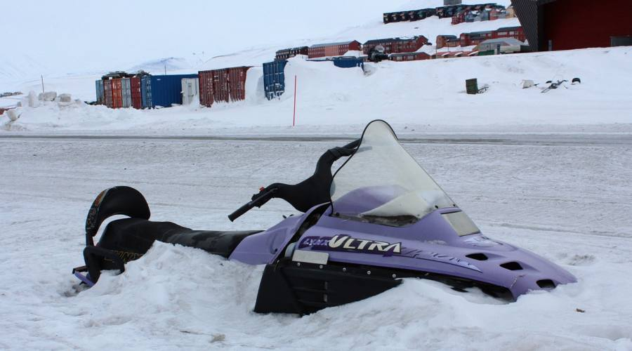 Motoslitta a Longyearbyen