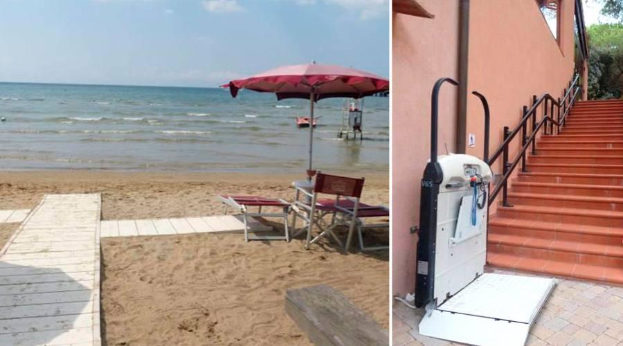 Accesso spiaggia e ristorante facilitato