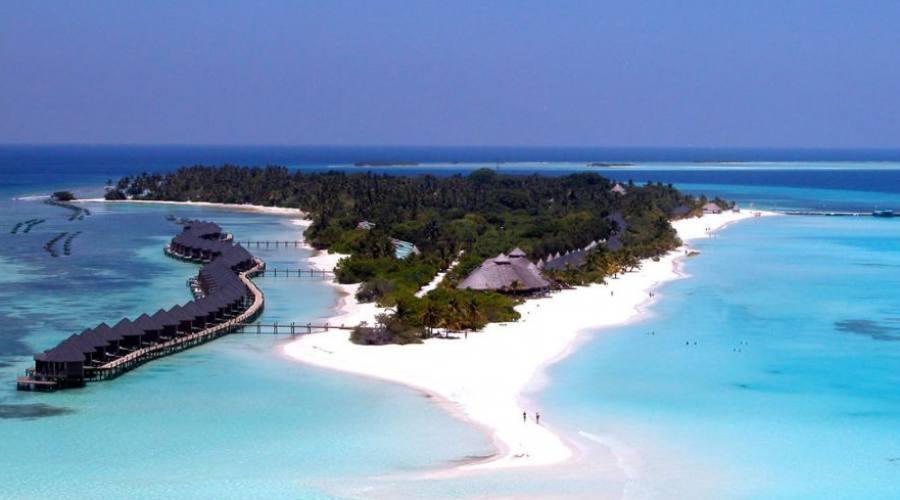 vista de la isla y la estructura