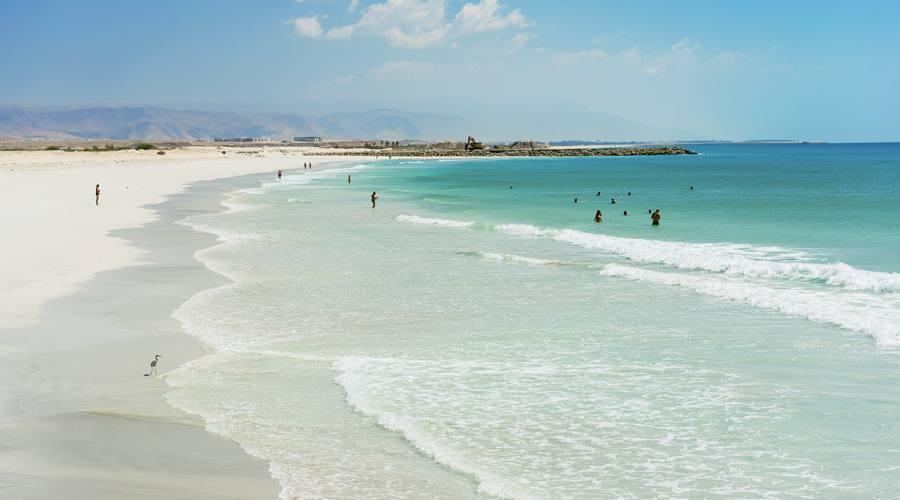La spiaggia bianca...
