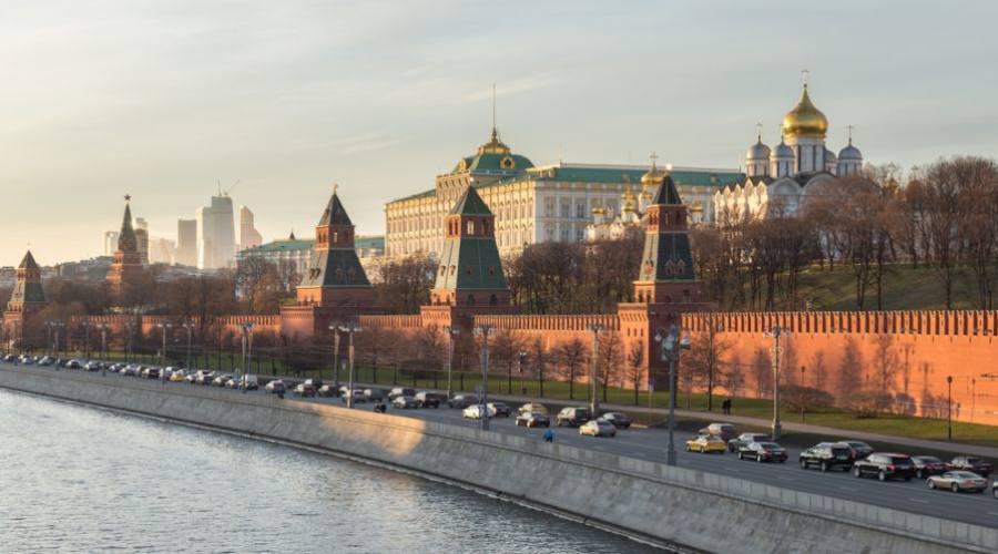 Mosca vista sulla Moscova e sul Cremlino