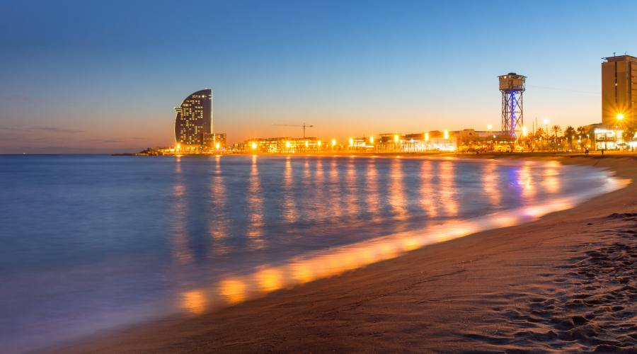 Barceloneta by night
