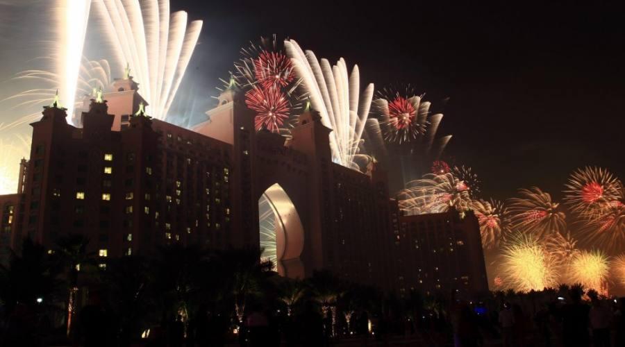 Fuochi d'artificio all'Atlantis