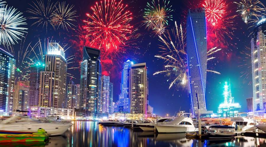 Dubai Marina in festa