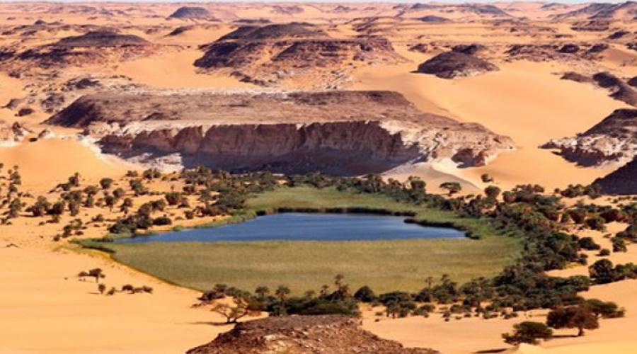 itinerario per veri viaggiatori: la vita dei nomadi del deserto - Porta Di Sicurezza Con La Scena Del Deserto