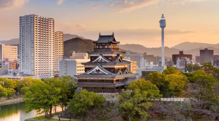 Vista dall'alto di Hiroshima