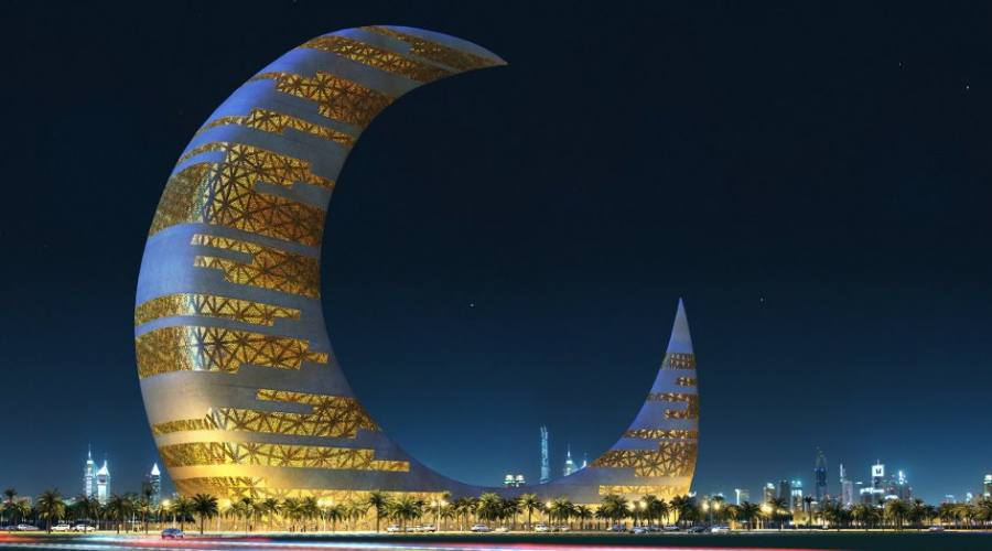 Dubai Crescent Moom Tower