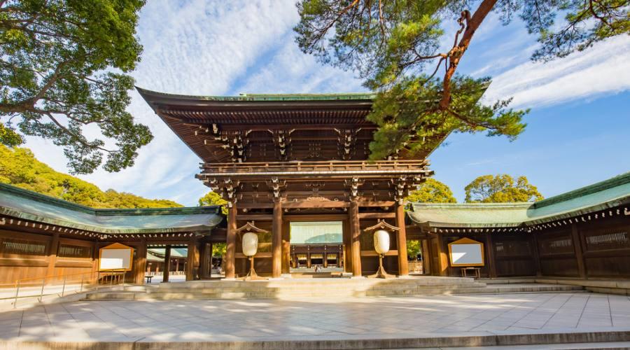 Il santuario Meiji Shrine a Tokyo