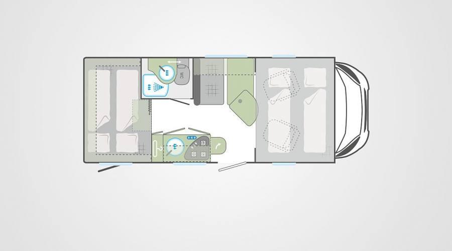 Camper Vista Plus configurazione interna