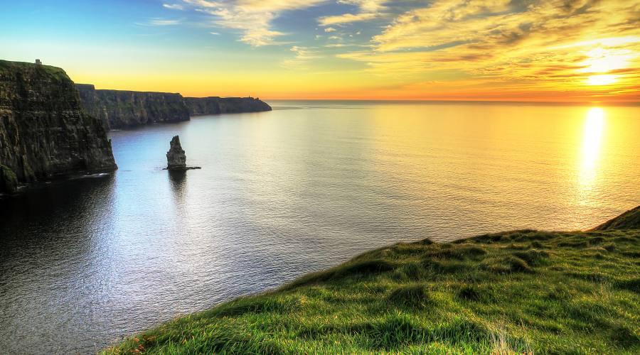 Scogliere Cliffs of Moher al tramonto