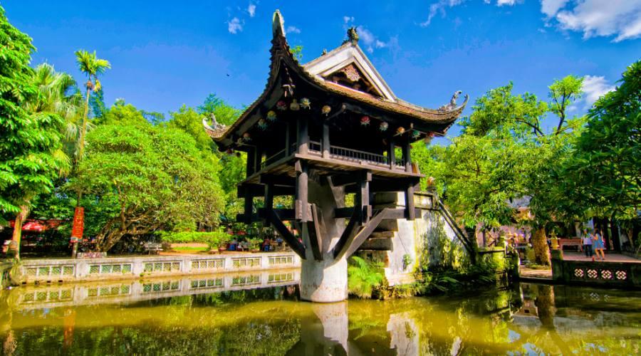 Pagoda su un solo pilastro