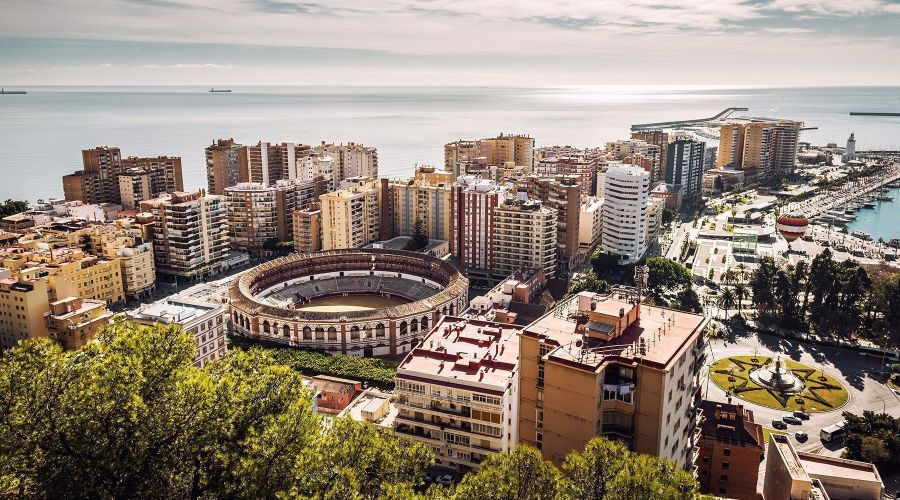 Malaga, veduta della Plaza de Toros