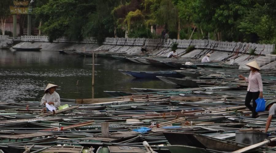 le costruzioni delle barche Ninh Binh