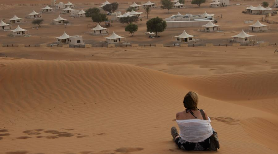 Ammirando le dune di Wahiba Sands