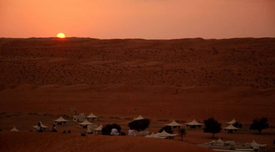 tramonto a Wahiba