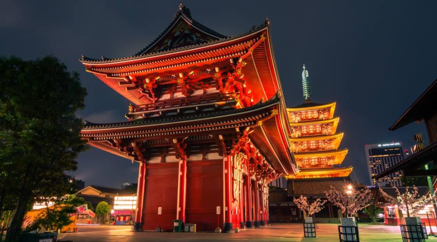 Il tempio Sensoji a Tokyo
