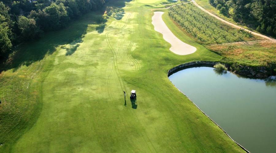 il campo da golf visto dall'alto
