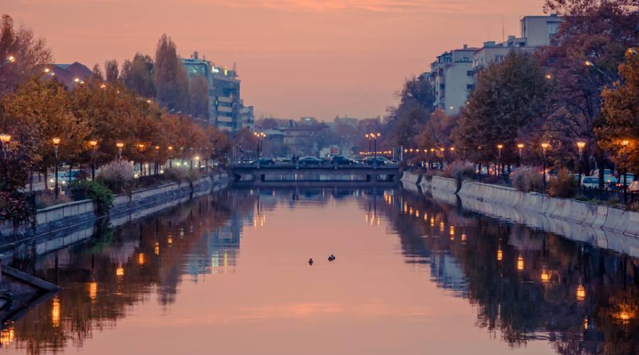 Bucarest, il fiume Dimbovita