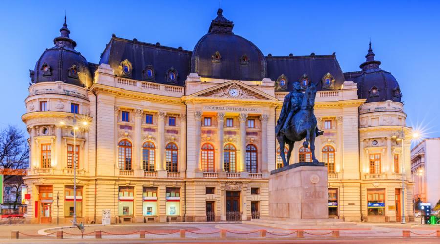 Bucarest, la Biblioteca centrale