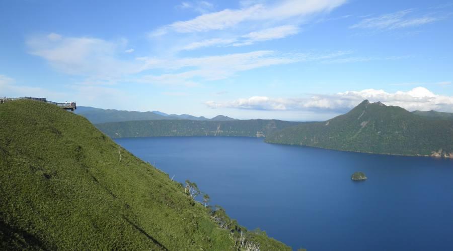 Lago Mashu del vulcano spento.