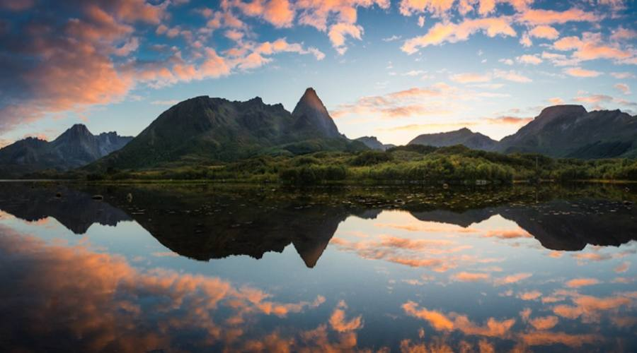 Tramonto sul fiordo