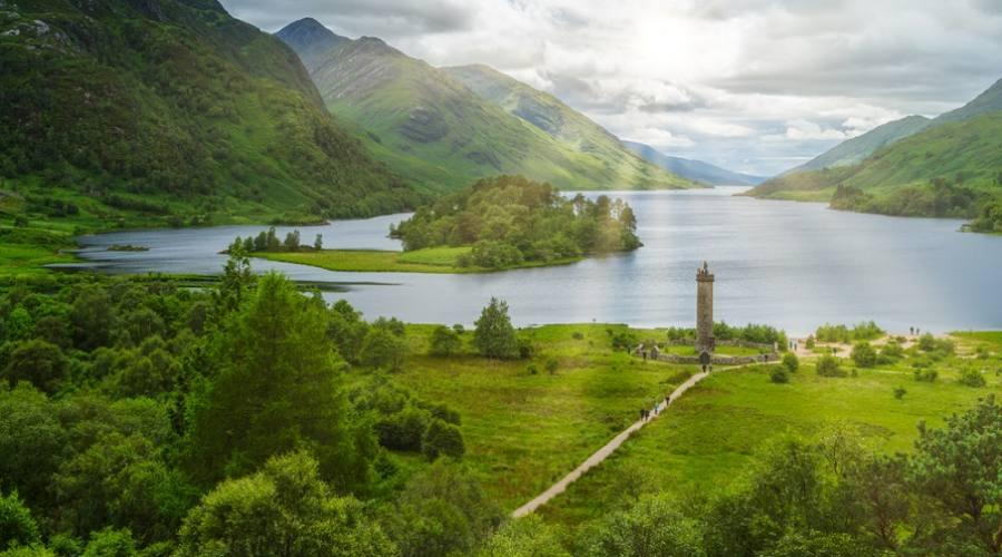 Monumento a Glenfinnan, a capo del Loch Shiel